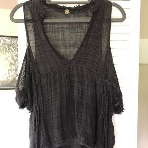 Free people cut out shoulder tank top